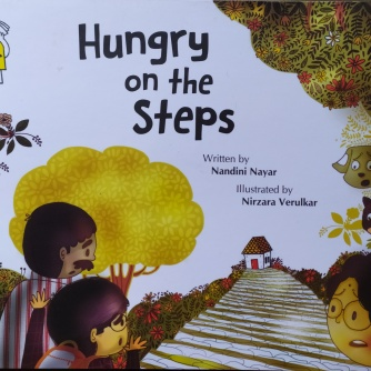 hungry on the steps