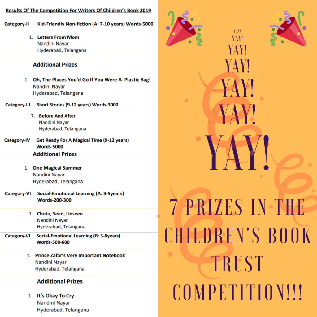 Nandini Nayar CBT Competition Prizes